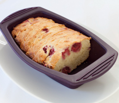 Coconut Yogurt Cake with Raspberries