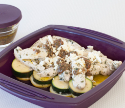 8-minute El Greco Lemony Chicken and Zucchini