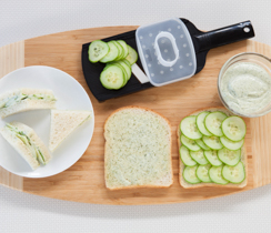 Lemon Aioli Cucumber Tea Sandwiches