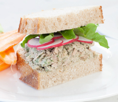 Lemon Basil Tuna Sandwiches