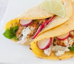 Fish Tacos with Lemon Basil Aioli