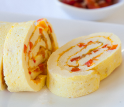 Cheesy Omelet Roll