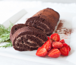 Chocolate Truffle Swiss Roll