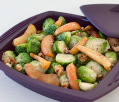Holiday Brussels Sprouts & Apples