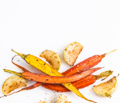 Rosemary Garlic Kohlrabi & Carrot Fries