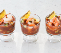 Gaspacho au cocktail de crevettes