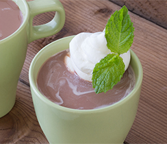 Peppermint Matcha Hot Chocolate