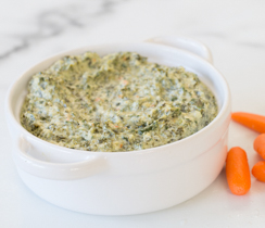 Cheesy Kale Hot Dip