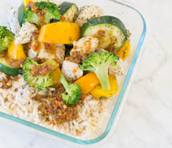 Steaming Easy Meal on the Go Bowl