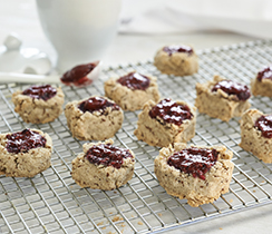 Amelia's Vegan Shortbread Thumbprint Cookies