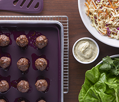 Sheet Pan Easy Asian Meatballs
