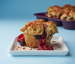 Powered Up Fruit Explosion Muffins