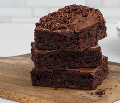 Chocolate Bliss Brownies with Chocolate Fudge Sauce
