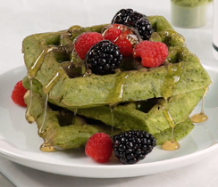 Super Greens Powerhouse Waffles