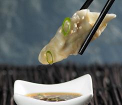 Steamed Dumplings with Asian Dipping Sauce