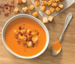 Roasted Tomato BLT Soup