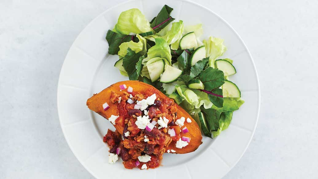 Chili Baked Sweet Potato