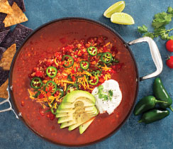 Spicy Lentil Taco Soup