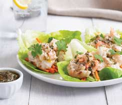 No-Cook Shrimp Salad Wraps