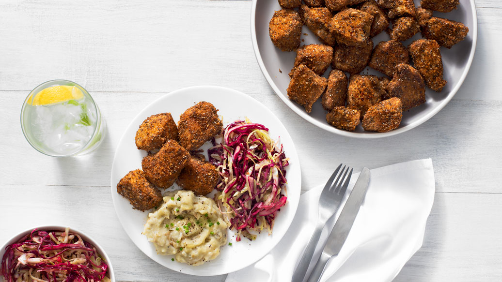 Southern Baked Popcorn Chicken Dinner