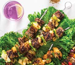 Asian Beef & Pineapple Kebabs