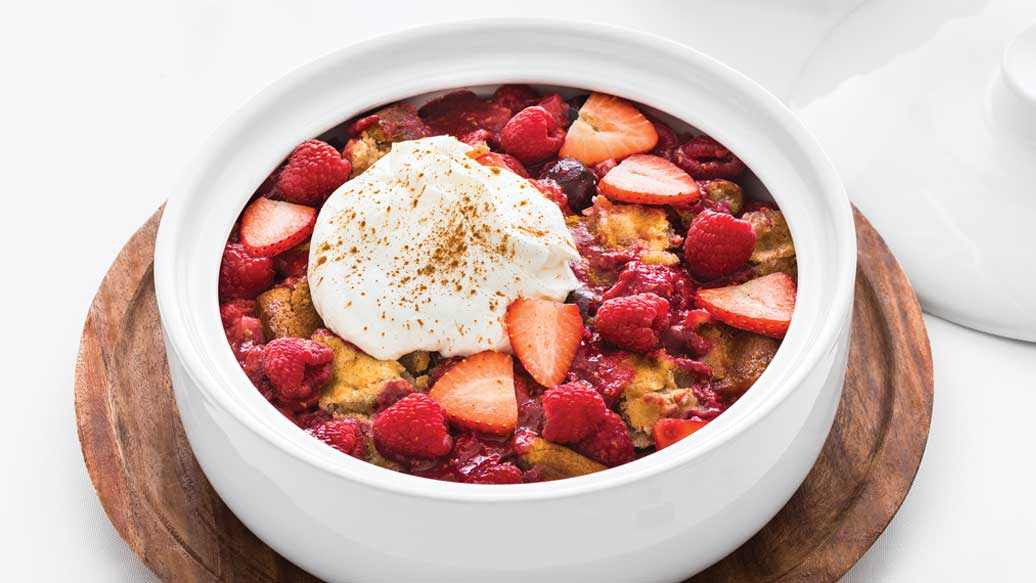 Oh Canada Red Berry Cobbler