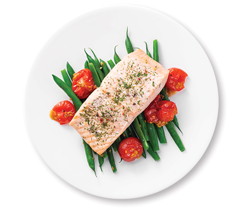 Lemon Dilly Salmon & Beans