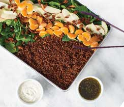Sheet Pan Quinoa & Spinach Salad