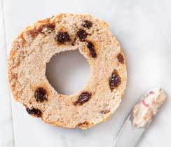 Gluten Free Cinnamon Raisin Bagel