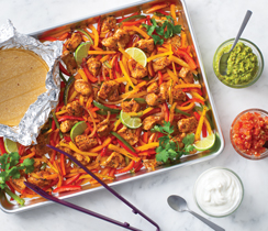 Sheet Pan Fajita Dinner