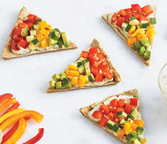 Sheet Pan Rainbow Pizza