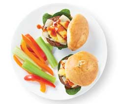 Mini burgers hawaïens