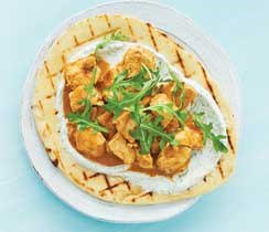 Grilled Butter Chicken Flatbread
