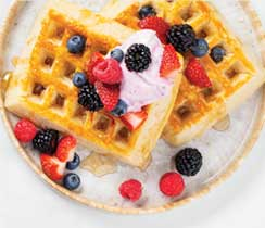 Summer Berry Waffles