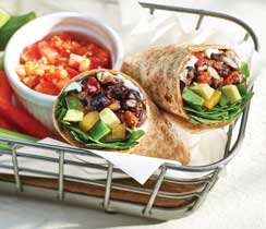 Mexican Black Bean & Avocado Wraps