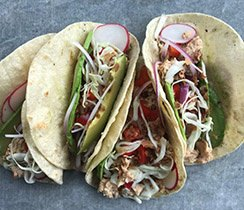 No-Cook Salmon Tacos