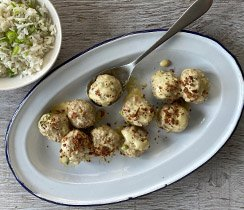 Tuscan Chicken Meatballs