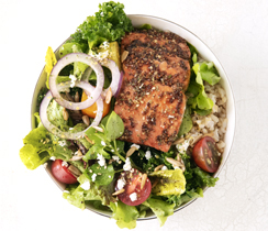 Balsamic Glazed Salmon Salad Bowl