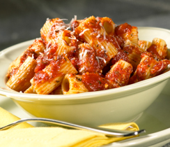 Rigatoni with Pesto Tomato Sauce