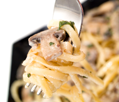 Herbed Garlic and Mushroom Pasta